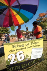 Support on all Fronts. The KSU Farmer's Market endorses regional produce with weekly vendors on campus.