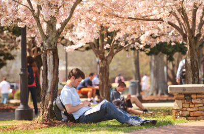Students on campus dc-12