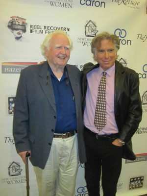 Writer and actor Malachy McCourt (left) and writers in Treatment founder Leonard Buschel walk the red carpet at the festival.