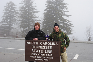 Alumni in the Great Smokey Mountains.
