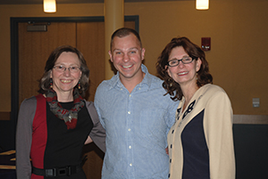 Left to right: Lisa Laitman, Director of Rtgers ADAP Frank Greenagel, previous Recovery Counselor Rutgers ADAP Polly McLaughlin, Director ADAP, Rutgers, Newark