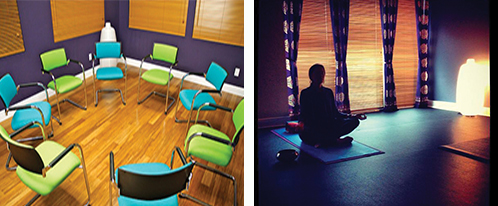 Inside Life of PUrpose there are areas for meetings, conferences and yoga.