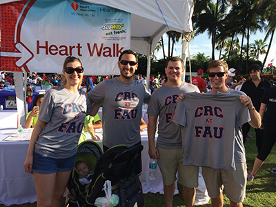 Life of Purpose strongly supports the FAU CRC In all activities like the Palm Beach Heart Walk.