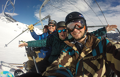 Opposite Page: Jimmy Jason, and other students in recovery at Recovery Ski-a-Thon 2014 in Breckenridge.