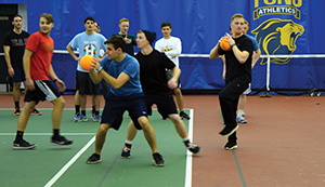 Dodgeball is just one way TCNJ students in recovery let off steam... Dodge, duck, dive, dip and dodge.