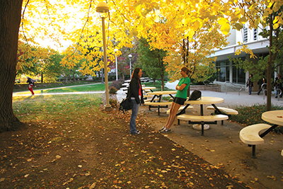 The grounds of Missouri State University in Springfield, Missouri, are home to a myriad of fall colors during the changing seasons. Photo Courtesy of Missouri State University