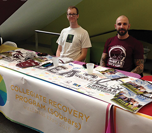 Jon Mangum and Jusitn Johns host a table at the Bill R. Foster and Family Recreation Center 2016 Wellness Expo. Photo courtesy Missouri State University