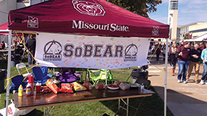 The MSU CRP hosts a sober tailgate at BearFest Village, the official Missouri State community tailgate area, during football season. Photo courtesy Missouri State University